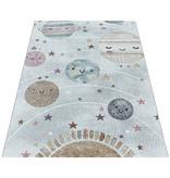 Adana Carpets Kindervloerkleed - Fleurtje Planeten Wit