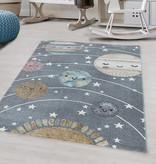 Adana Carpets Kindervloerkleed - Fleurtje Planeten Grijs