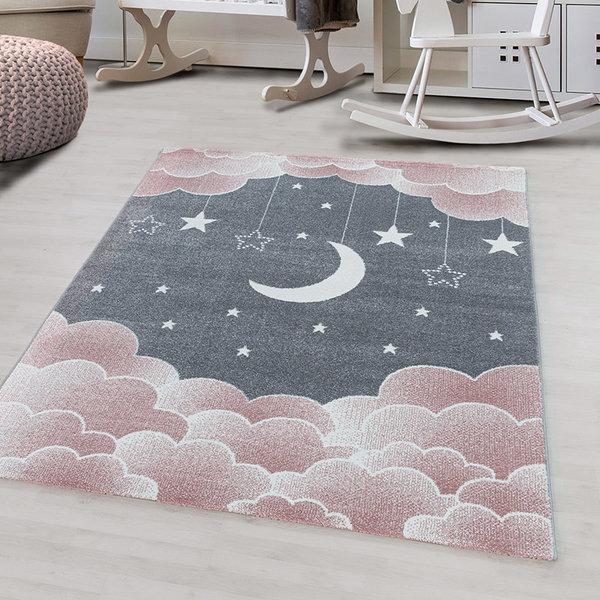 Adana Carpets Kindervloerkleed - Fleurtje Maan Roze