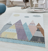 Adana Carpets Kindervloerkleed - Lucy Tenten Multicolor