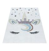 Adana Carpets Kindervloerkleed - Lucy Eenhoorn Wit