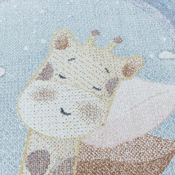 Adana Carpets Kindervloerkleed - Lucy Giraffe Blauw