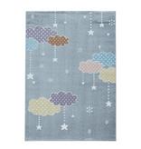 Adana Carpets Kindervloerkleed - Lucy Wolken Grijs