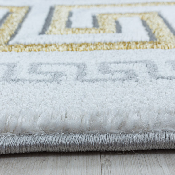 Adana Carpets Modern vloerkleed - Marble Edge Grijs Goud