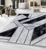 Adana Carpets Modern vloerkleed - Marble Design Grijs Zilver