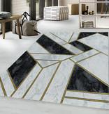 Adana Carpets Modern vloerkleed - Marble Design Grijs Goud