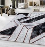 Adana Carpets Modern vloerkleed - Marble Design Grijs Bruin