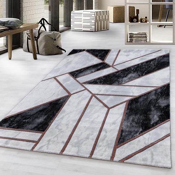 Modern vloerkleed - Marble Design Grijs Bruin