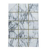 Adana Carpets Modern vloerkleed - Marble Box Grijs Goud