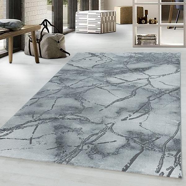 Modern vloerkleed - Marble Branch Grijs Zilver