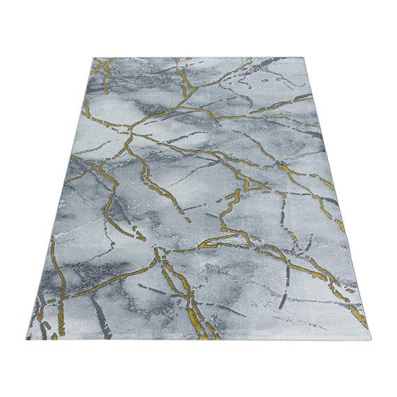 Adana Carpets Modern vloerkleed - Marble Branch Grijs Goud