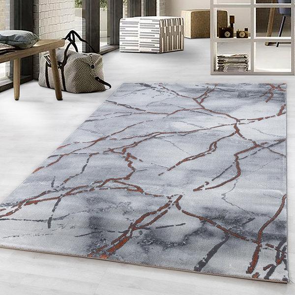 Modern vloerkleed - Marble Branch Grijs Bruin