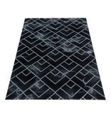 Adana Carpets Modern vloerkleed - Marble Pattern Antraciet Zilver