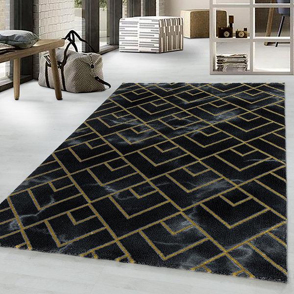 Modern vloerkleed - Marble Pattern Antraciet Goud