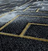 Adana Carpets Modern vloerkleed - Marble Pattern Antraciet Goud