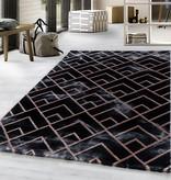 Adana Carpets Modern vloerkleed - Marble Pattern Antraciet Bruin