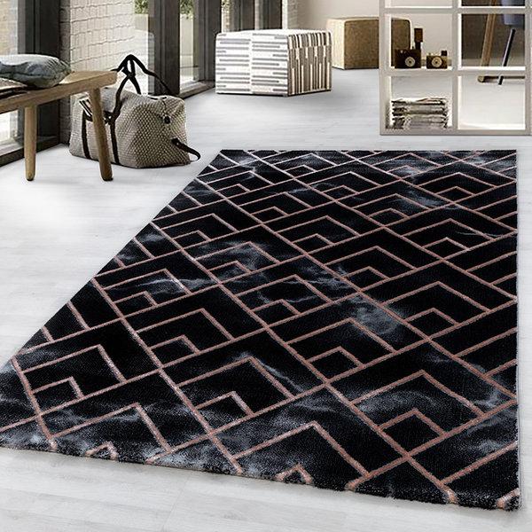 Modern vloerkleed - Marble Pattern Antraciet Bruin
