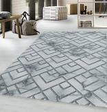 Adana Carpets Modern vloerkleed - Marble Pattern Grijs Zilver