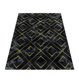Adana Carpets Modern vloerkleed - Marble Square Antraciet Goud