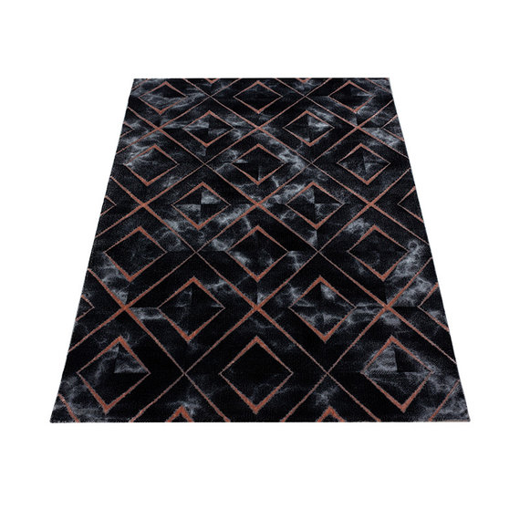 Adana Carpets Modern vloerkleed - Marble Square Antraciet Bruin