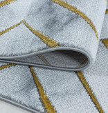 Adana Carpets Modern vloerkleed - Marble Square Grijs Goud