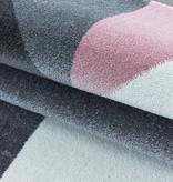 Adana Carpets Modern vloerkleed - Optimism Design Roze Grijs