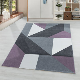 Adana Carpets Modern vloerkleed - Optimism Design Paars Grijs