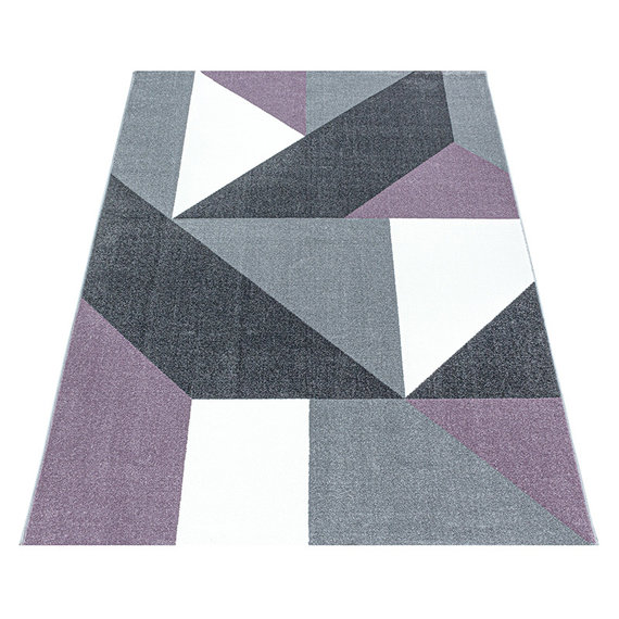 Adana Carpets Modern vloerkleed - Optimism Design Paars Grijs