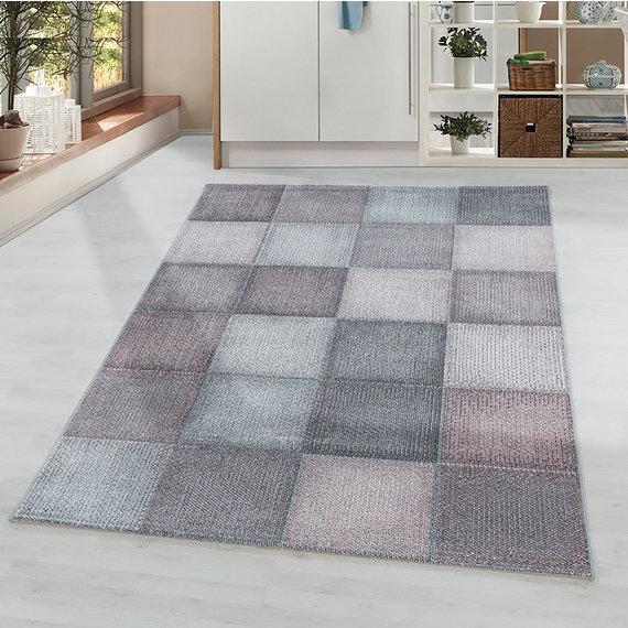 Adana Carpets Modern vloerkleed - Optimism Block Roze Grijs