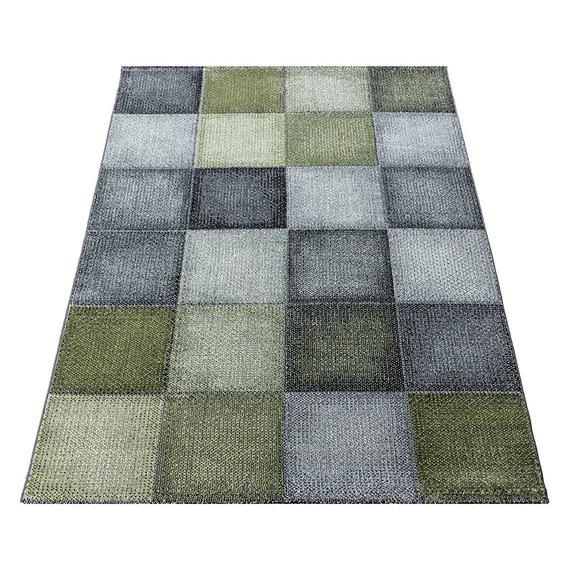 Adana Carpets Modern vloerkleed - Optimism Block Groen Grijs