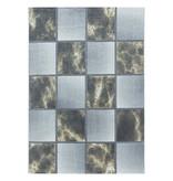 Adana Carpets Modern vloerkleed - Optimism Box Geel Grijs