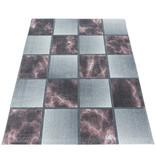 Adana Carpets Modern vloerkleed - Optimism Box Roze Grijs