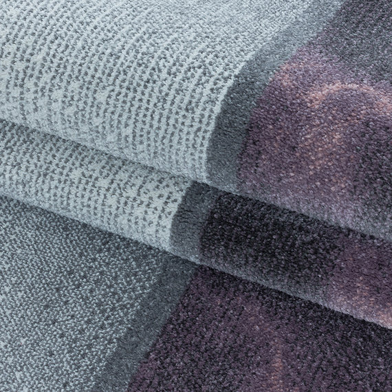 Adana Carpets Modern vloerkleed - Optimism Box Paars Grijs