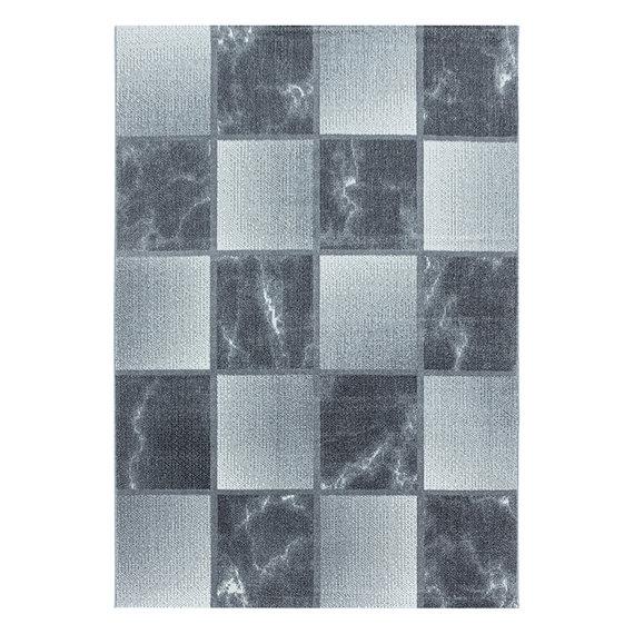 Adana Carpets Modern vloerkleed - Optimism Box Zilver Grijs