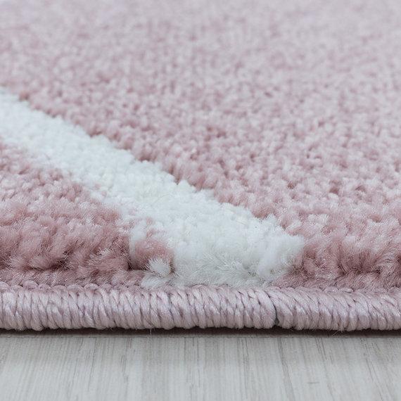 Adana Carpets Laagpolig vloerkleed - Smoothly Weave Roze Wit