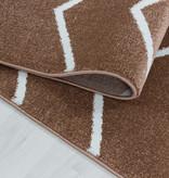 Adana Carpets Laagpolig vloerkleed - Smoothly Weave Bruin Wit
