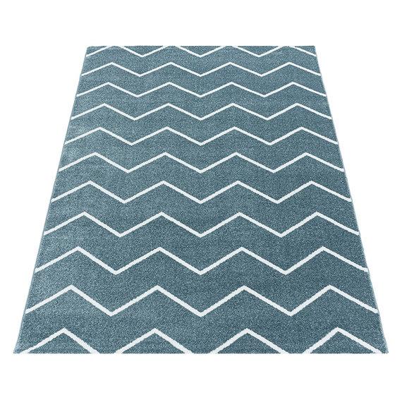 Adana Carpets Laagpolig vloerkleed - Smoothly Weave Blauw Wit