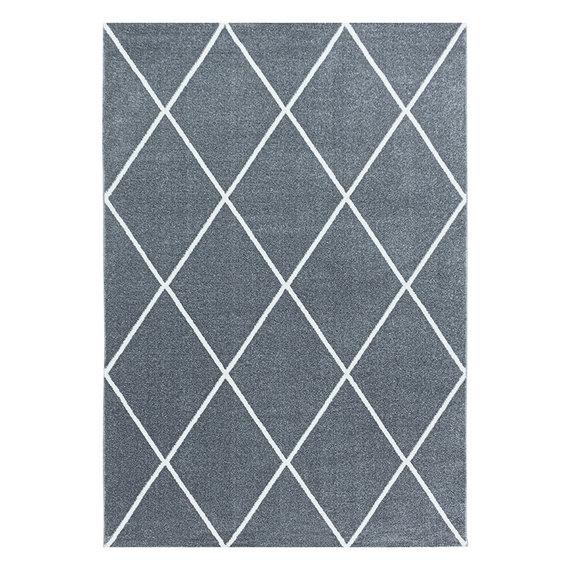Adana Carpets Laagpolig vloerkleed - Smoothly Lines Grijs Wit