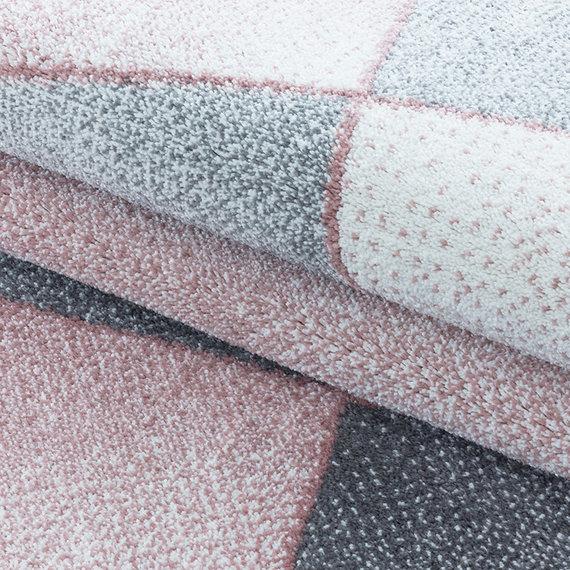 Adana Carpets Laagpolig vloerkleed - Smoothly Design Roze Grijs