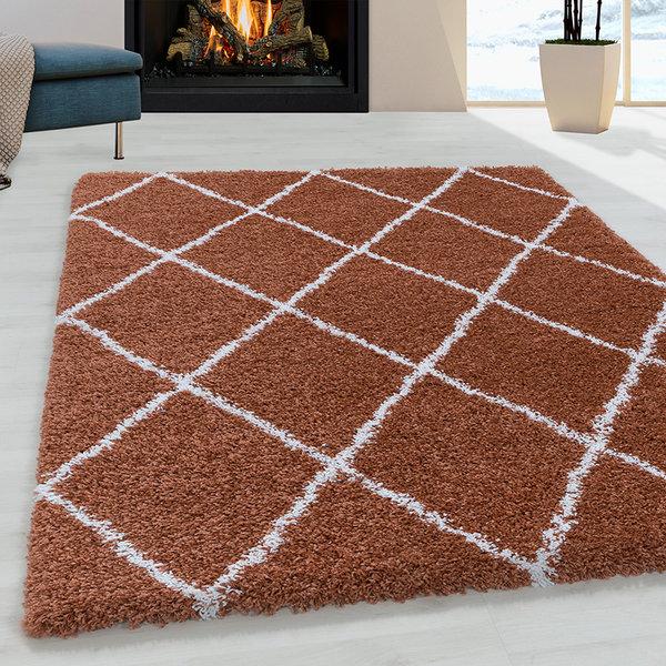 Adana Carpets Berber vloerkleed - Agadir Lines Terra Creme