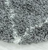 Adana Carpets Rond berber vloerkleed - Agadir Lines Grijs Creme