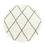 Adana Carpets Rond berber vloerkleed - Agadir Lines Creme Beige