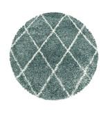 Adana Carpets Rond berber vloerkleed - Agadir Lines Blauw Creme