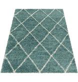 Adana Carpets Berber vloerkleed - Agadir Lines Blauw Creme