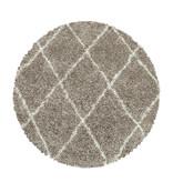 Adana Carpets Rond berber vloerkleed - Agadir Lines Beige Creme