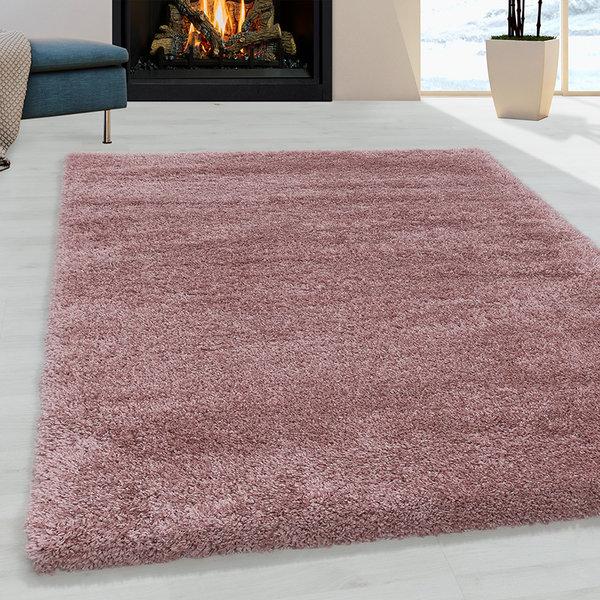 Hoogpolig vloerkleed - Fuzzy Roze