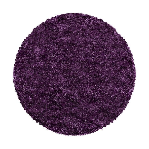 Adana Carpets Rond hoogpolig vloerkleed - Fuzzy Paars