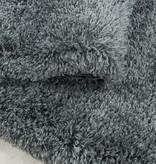 Adana Carpets Rond hoogpolig vloerkleed - Fuzzy Grijs