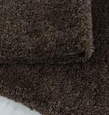 Adana Carpets Rond hoogpolig vloerkleed - Fuzzy Bruin