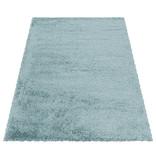 Adana Carpets Hoogpolig vloerkleed - Fuzzy Lichtblauw